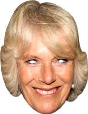 Camilla Parker Bowles Face Mask. Have fun with this mask at the festivities of Queen's 90th birthday. http://www.novelties-direct.co.uk/Camilla.html