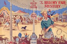 The Rilloby Fair Mystery by Enid Blyton - Wrap around cover Gilbert Dunlop