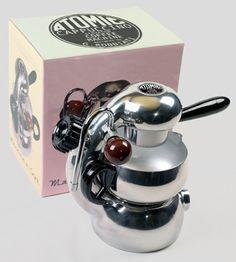 atomic coffee maker. giordano robbiati. c1940s.