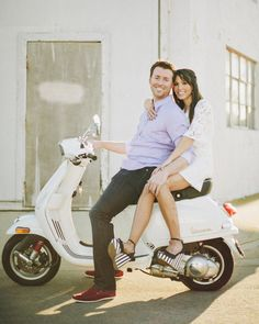 Vespa engagement, Balboa Peninsula, Newport Beach by Matthew Morgan