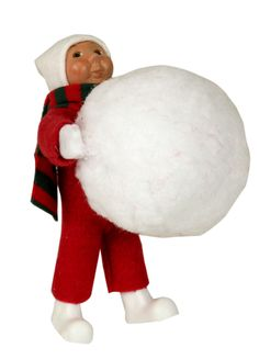 Byers' Choice Toddler with Snowball Inv # 2946