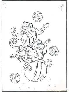 coloring pages of monkeys free printable coloring page monkey on ball b2072 animals