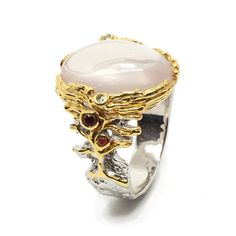 Ring mit Rosenquarz Gemstone Rings, Gemstones, Jewellery, Fashion, Sapphire, Gold Paint, Pink Quartz, Beads, Stones