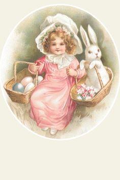 Easter. Pink Dress.