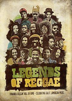Legends of Reggae Poster by Panda , via Behance