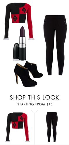 """""""Harley Quinn!!"""" by leayahmack on Polyvore featuring Giuseppe Zanotti"""