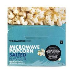 Microwave Salted Popcorn 3Pk   Woolworths.co.za Microwave Popcorn, Easy Snacks, Healthy Living, Salt, Nutrition, Vegan, Cooking, Breakfast, Food
