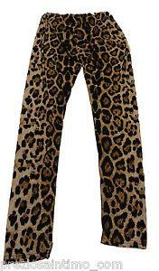 Leggings leopardato Maculato pantalone lungo Fuseaux Donna PAnts woman femme