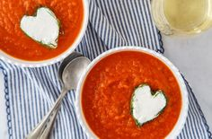 Tomato Fennel Soup with Goat Cheese