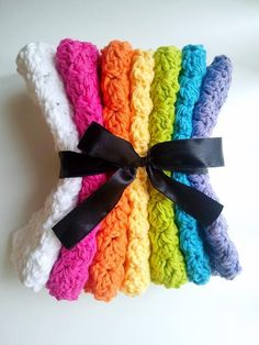 Crochet Bubble Stitch Wash Cloth Pattern GREAT FOR ADDING TO A BASKET GIFT