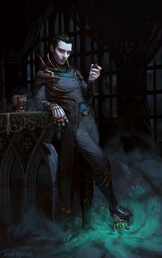 ArtStation - Morrow - steampunk necromancer, Jakub Bazyluk