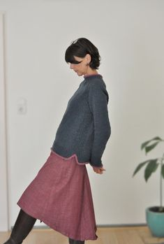 BlueHouse was made in collaboration with the wonderful L'échappée Laine Knitting Projects, Knitting Patterns, Ravelry, Jumpers For Women, Ladies Jumpers, Cardigan Pattern, Pullover, Knit Crochet, Ballet Skirt