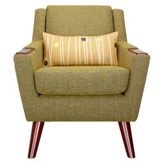 Buy G Plan Vintage The Fifty Five Armchair, Marl Green from our Armchairs range at John Lewis. G Plan Furniture, Retro Furniture, Furniture Makeover, Retro Armchair, Modern Armchair, Mid Century Interior Design, Mid Century Design, Grown Up Bedroom, Retro Home Decor