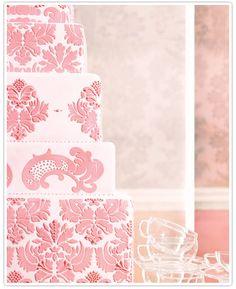 Pink jacquard cake
