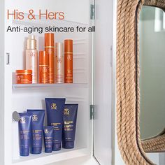 His & Hers Anti-aging skincare for all.