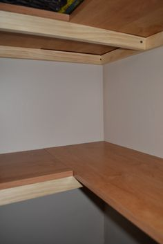 L-shaped corner shelves