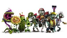 In Plants vs. Zombies™ Garden Warfare the zombies have conquered, and the plants are on the attack for the first time in this hilarious, action-packed shooter. Zombies Vs, Plants Vs Zombies 2, Legos, P Vs Z, Zombie Wallpaper, Plant Zombie, Zombie Birthday, Gardening Magazines, Party Cups