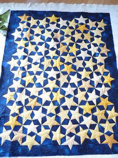 This pic is from a longarm quilter's blog. Anyone recognize the pattern? It's paper pieced, and I want to make it!  Sewing & Quilt Gallery: Stars & Cables