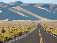 Sand Mountain, outside of Fallon, Nevada by Joy Soleida Road Routes, Beautiful Roads, Romantic Escapes, Great Photos, Adventure Travel, Fallon Nevada, Places To Visit, Scenery, Around The Worlds