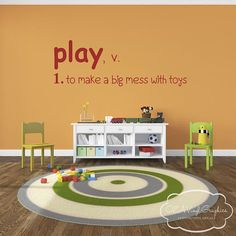 Playroom Wall Decal Vinyl Lettering by OZAVinylGraphics