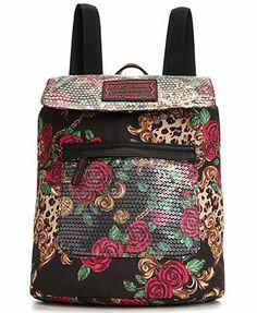 Betsey Johnson Handbag, Cheetah Rose Backpack