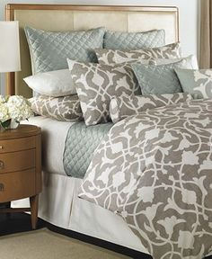 Our new bedding for our bedroom!  Barbara Barry Bedding, Poetical Collection - Bedding Collections - Bed & Bath - Macy's