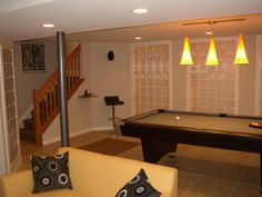 Simple lines modern glass game pool table