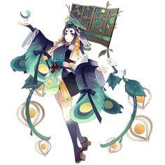 Chin | Onmyoji Wiki | Fandom Dragon Pictures, Wings Design, Beautiful Fantasy Art, Fantasy Characters, Fictional Characters, Anime Angel, Manga, Character Design Inspiration, Pixel Art