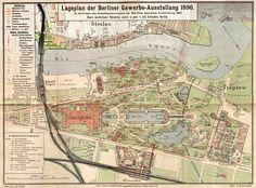 Lageplan der Berliner Gewerbe-Ausstellung 1896