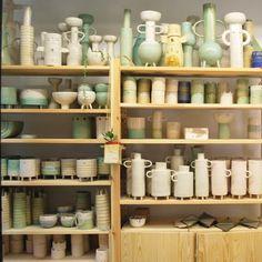 Studio shelfie. Next sale of work on the 20th at 11am (UK time). #atelierstellaceramics #ceramicstudio