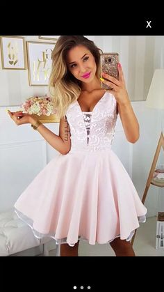Customized Vogue Pink Party Dresses Deep V Neck Pink Lace Homecoming Dresses Mini Length Prom Graduation Dress Party Gowns Junior Homecoming Dresses, V Neck Prom Dresses, Dress Prom, Dress Wedding, Light Pink Homecoming Dresses, Wedding Shoes, Cheap Dresses, Sexy Dresses, Elegant Dresses