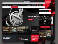 FyreStore by Tom Koszyk Popular Web Design Gallery, Gaming Headphones, Presentation, Games, Behance, Shots, Illustrations, Popular, Website