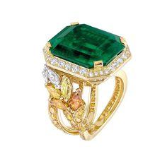 Chanel Bague émeraude et diamants Les Blés de Chanel