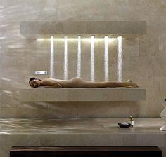 Was es alles gibt: Horizontale Dusche