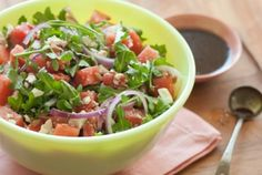 Watermelon and Arugula Salad | Whole Foods Market - use goat cheese instead of feta and add fresh mint!