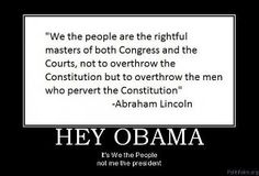 We the people.  given the laws recently signed, this is more truthful now than at anytime in our history.