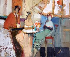 "Original Painting ""Untitled Bar Scene"" by Yuri Tremler"