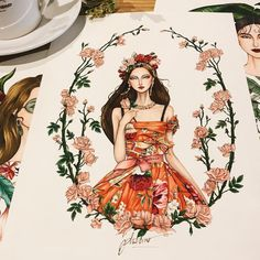 "5,711 Likes, 33 Comments - Eris Tran (@eris_tran) on Instagram: ""Custom bridal illustration! ❤️ #sketch #sketching #draw #drawing #fashion #fashionsketch…"""