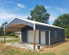 Problem: You need a shop, storage shed, or home. Solution: A Reed's Metals pole barn! Delivered in 10 days or less! Metal Pole Barns, Pole Barn Garage, Pole Barn House Plans, Pole Barn Homes, Barn Plans, Metal Shop Building, Building A Pole Barn, Building A House, Building Ideas