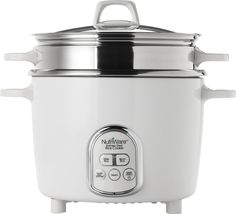 Aroma Housewares NutriWare 14-Cup (Cooked) Digital Rice Cooker and Food Steamer, White * See this great product.