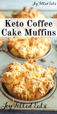 Coffee Cake Muffins Low Carb Keto GlutenFree GrainFree SugarFree THM S these are a delicious breakfast dessert or afternoon snack They pair perfectly with you guessed i. Keto Cookies, Cookies Et Biscuits, Keto Biscuits, Chip Cookies, Keto Cupcakes, Low Carb Breakfast, Breakfast Dessert, Breakfast Gravy, Breakfast Ideas