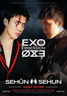 EXO's Sehun is meeting his doppelganger in the latest teaser images for 'Obsession'.As you can see below, Sehun comes face to face with a da… Baekhyun Chanyeol, Kai, Kpop Exo, Exo K, Chen, Luhan And Kris, Exo Album, Kim Jongdae, Losing Faith