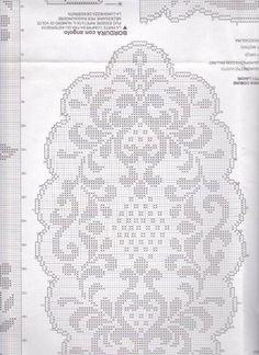 Billedresultat for oval filet crochet Crochet Tablecloth Pattern, Crochet Doily Diagram, Filet Crochet Charts, Crochet Doilies, Thread Crochet, Crochet Stitches, Cross Stitch Designs, Cross Stitch Patterns, Cross Stitch Embroidery