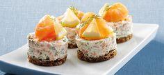 Philadelphia – Rezepten – Salmon tarts with Philadelphia – Typical Miracle Savory Snacks, Snack Recipes, Cooking Recipes, I Love Food, Good Food, Yummy Food, Philadelphia Recipes, Salty Foods, Danish Food
