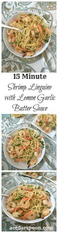 15 Minute Shrimp with Lemon Garlic Butter Sauce: light, easy and full of flavor // A Cedar Spoon (Lemon Butter Scallops)