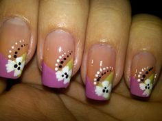 flower nail designs pictures | Community » Simple flower and dots nail design