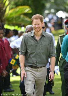 The prince is there on day seven of his 15 day tour of the Caribbean...