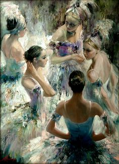 Russian art, birds of paradise! Art Ballet, Ballet Painting, Dance Paintings, Painting & Drawing, Oil Paintings, Art And Illustration, Ballerina Kunst, Russian Art, Russian Ballet