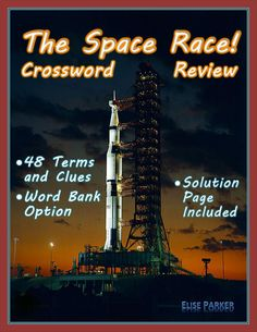 Fun Educational Games, Learning Games, Spanish Exercises, Fall Cleaning, Space Race, Teaching History, Teaching Materials, Crossword, Cold War