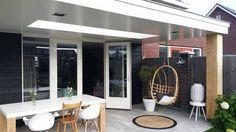 Garden Veranda Ideas, Outdoor Pergola, Outdoor Decor, Timber Roof, House Plants Decor, Rooftop Terrace, Garden Seating, Back Gardens, Garden Inspiration